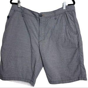 Howe Reversible Flat Front Bermuda Shorts Men's 34
